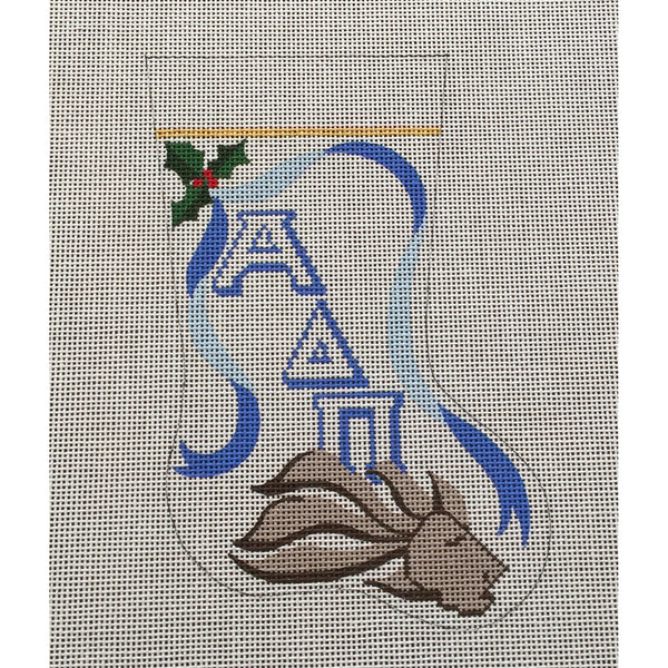 Alpha Delta Pi Lion Mini Sock Canvas