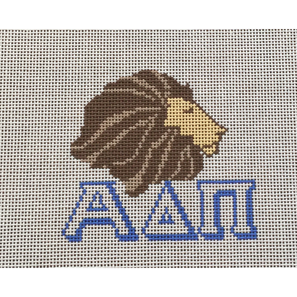 Alpha Delta Pi/Lion Canvas-Needlepoint Canvas-Painted Pony-KC Needlepoint