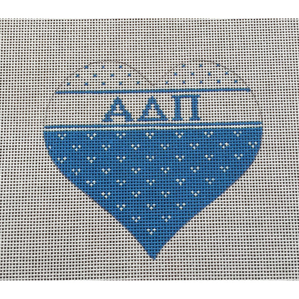 Alpha Delta Pi Heart Canvas
