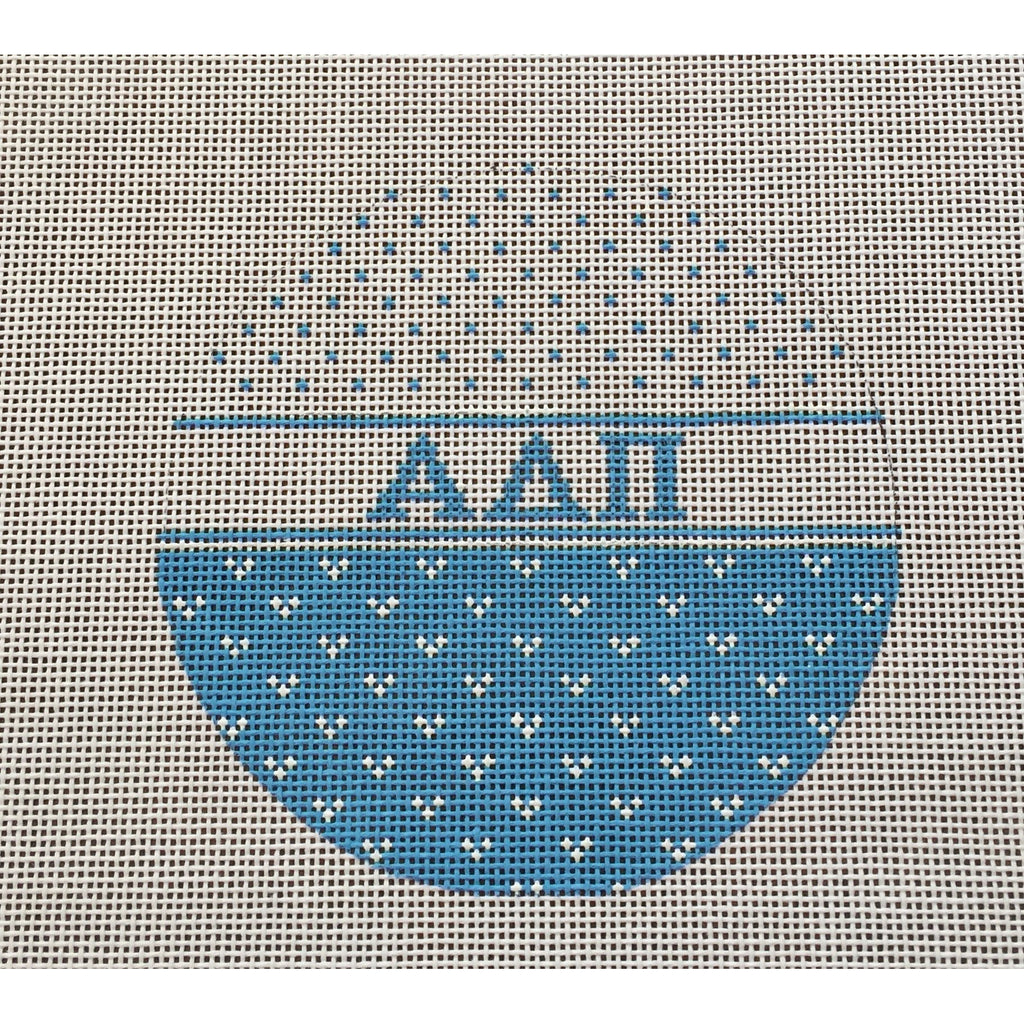 Alpha Delta Pi Round Canvas-Needlepoint Canvas-Painted Pony-KC Needlepoint
