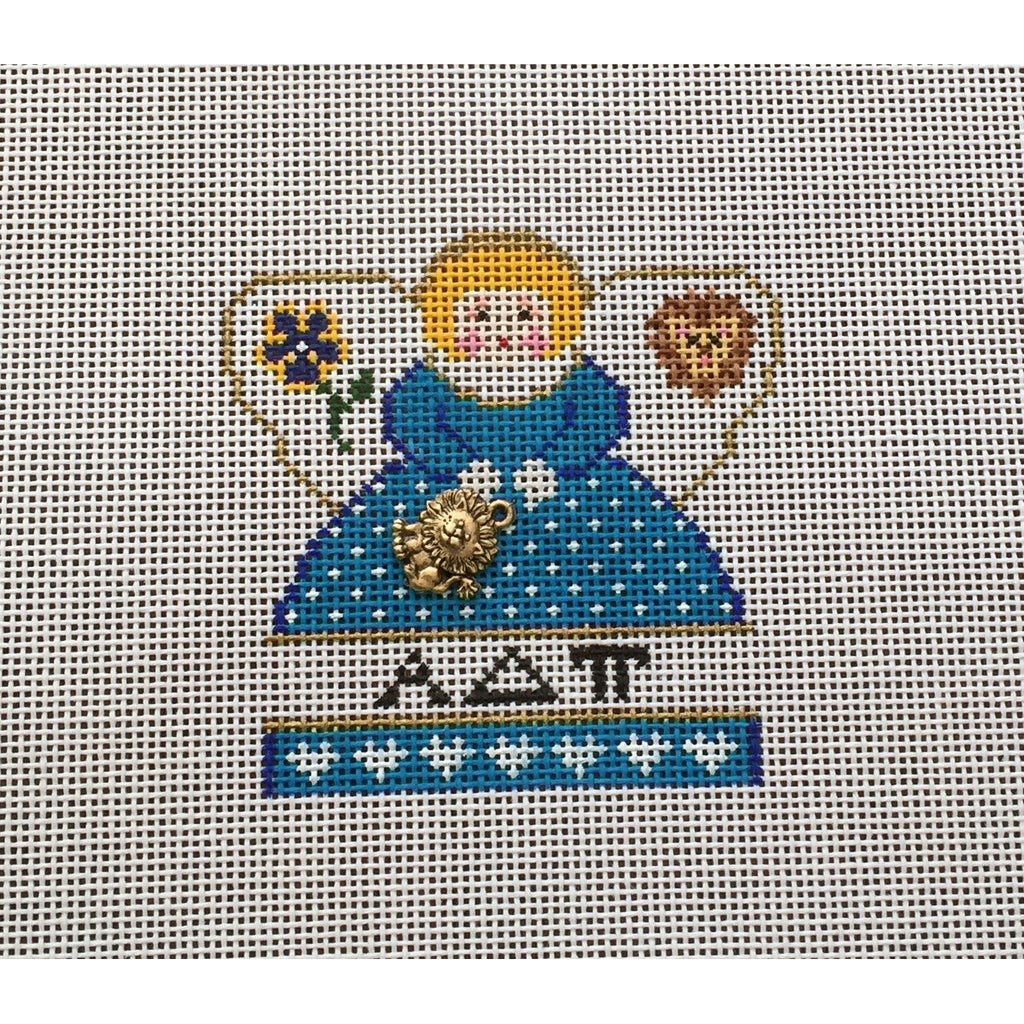 Alpha Delta Pi Mini Angel Canvas-Needlepoint Canvas-Painted Pony-KC Needlepoint