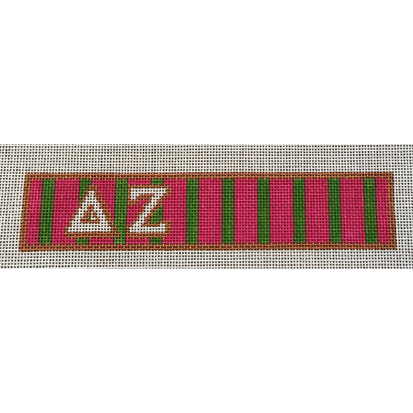 Delta Zeta Key Fob Canvas