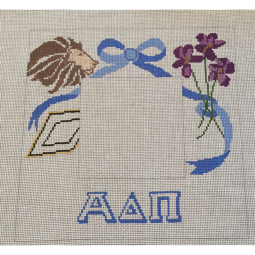 Alpha Delta Pi Frame Canvas-Needlepoint Canvas-Painted Pony-KC Needlepoint