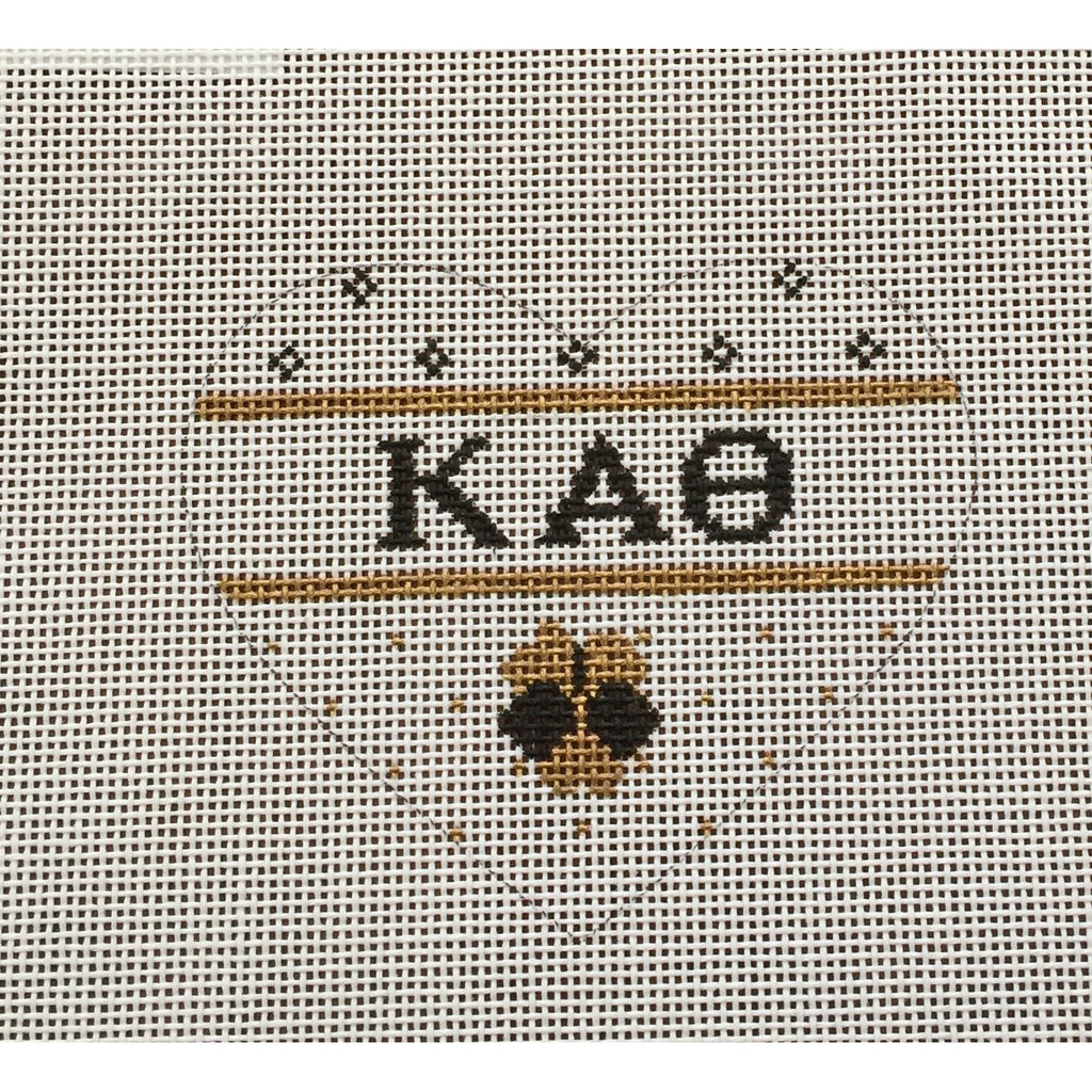 Kappa Alpha Theta Small Heart Canvas-Needlepoint Canvas-Painted Pony-KC Needlepoint