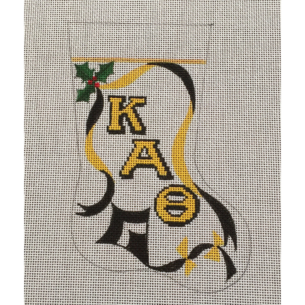 Kappa Alpha Theta Kite Mini Sock Canvas-Needlepoint Canvas-Painted Pony-KC Needlepoint