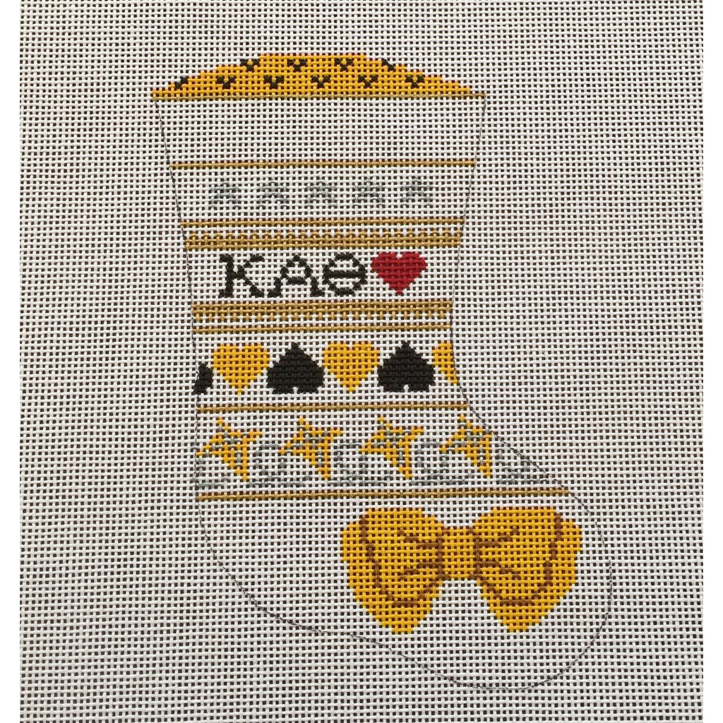 Kappa Alpha Theta Mini Sock Canvas
