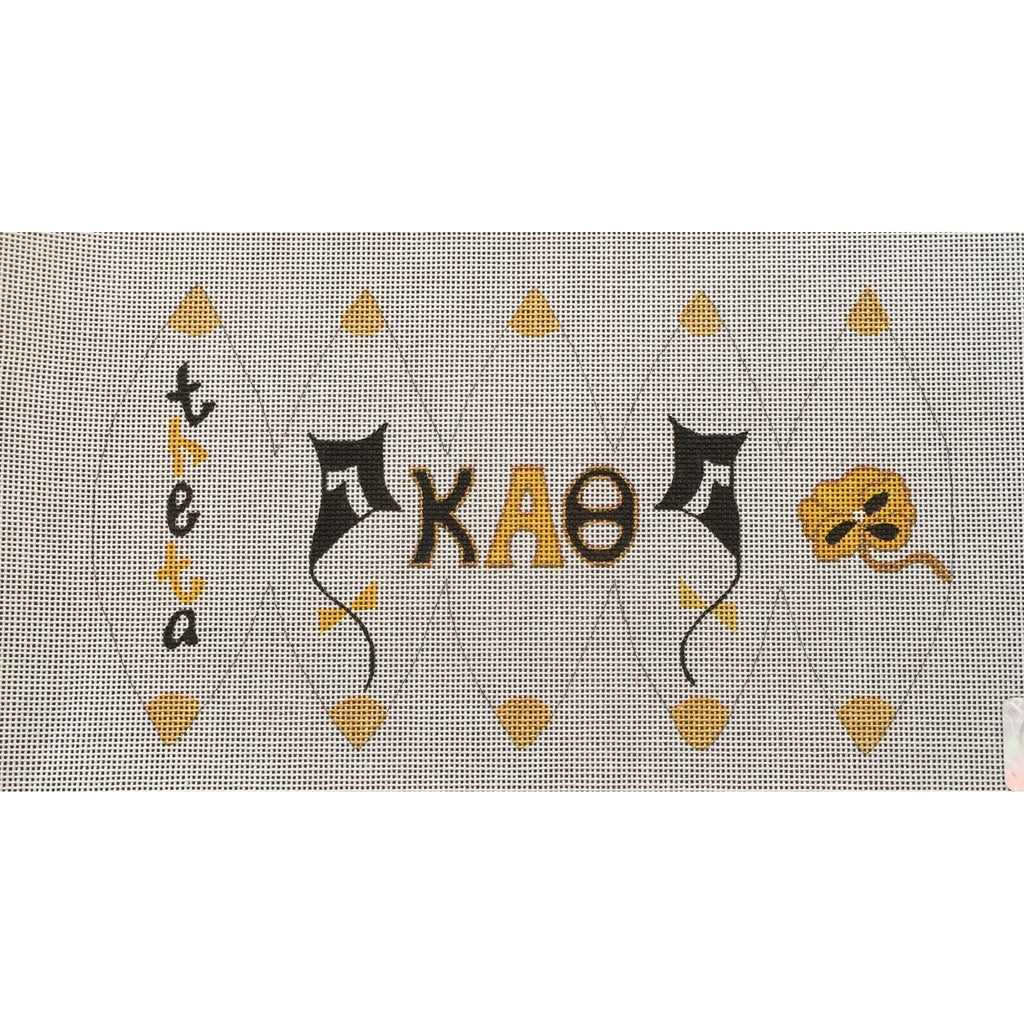 Kappa Alpha Theta 3D Ball Canvas