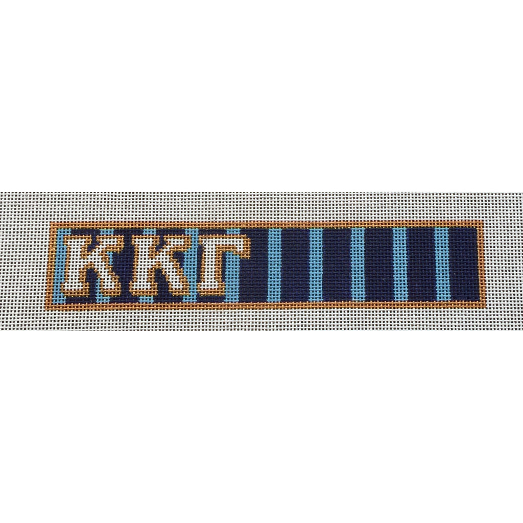 Kappa Kappa Gamma Key Fob Canvas-Painted Pony-KC Needlepoint