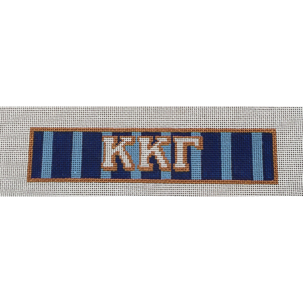 Kappa Kappa Gamma Bracelet Canvas-Needlepoint Canvas-Painted Pony-KC Needlepoint