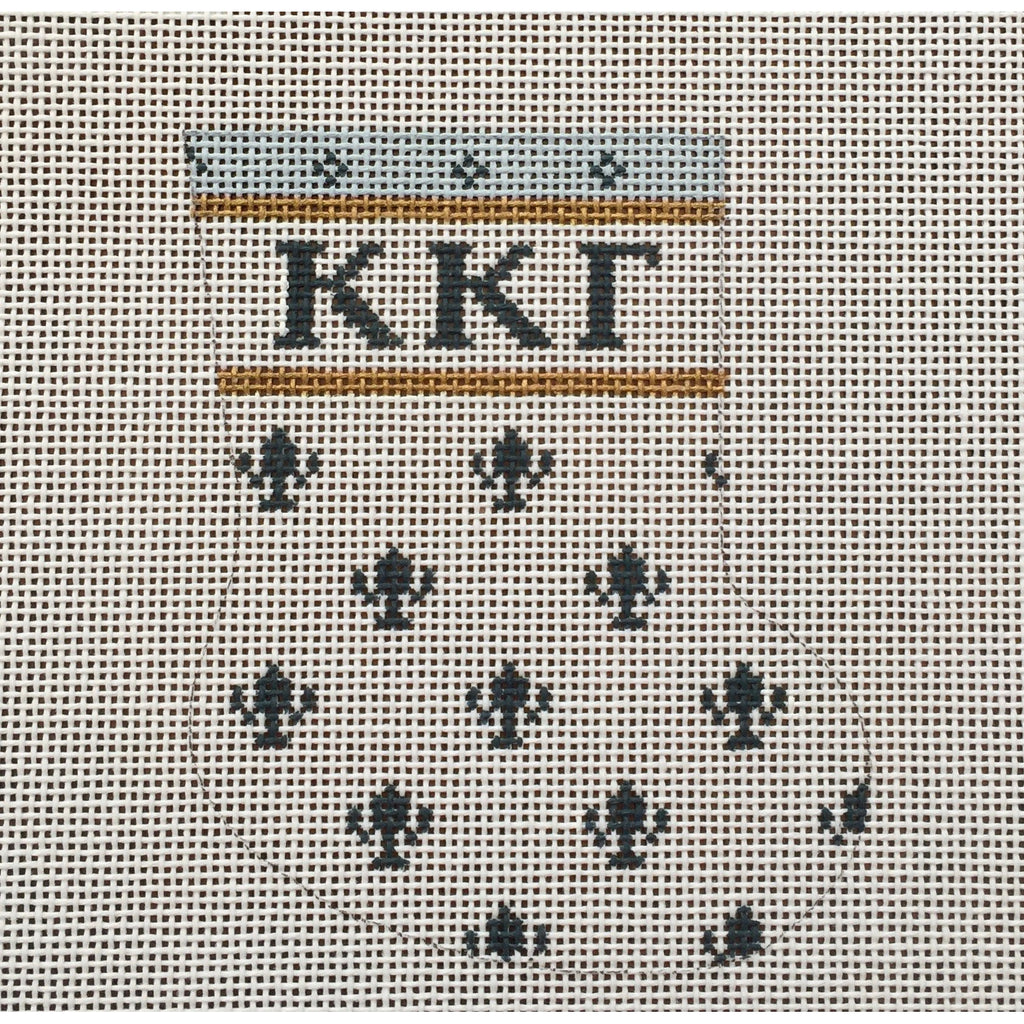 Kappa Kappa Gamma Mini Sock Canvas-Painted Pony-KC Needlepoint