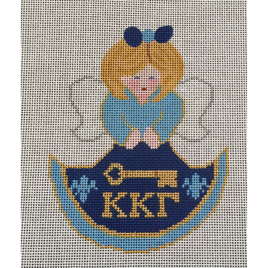 Kappa Kappa Gamma Angel Canvas-Painted Pony-KC Needlepoint
