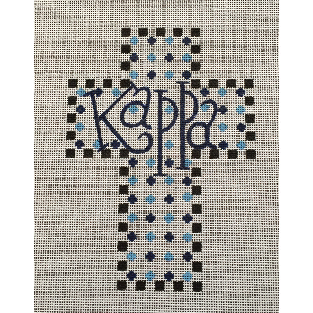 Kappa Kappa Gamma Cross Canvas-Painted Pony-KC Needlepoint