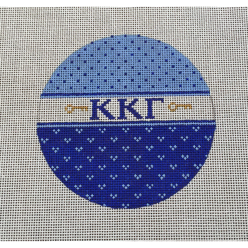 Kappa Kappa Gamma Round Canvas-Painted Pony-KC Needlepoint