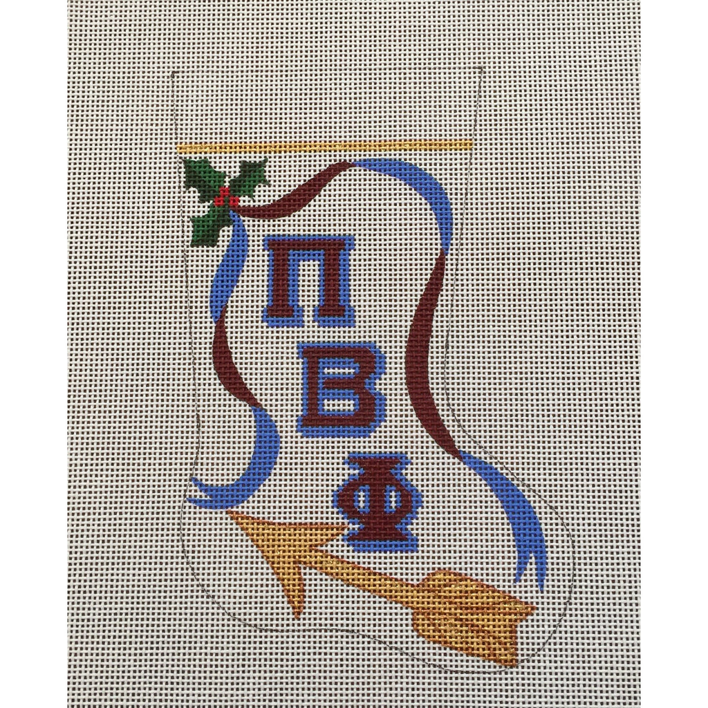 Pi Beta Phi Arrow Mini Sock Canvas - needlepoint