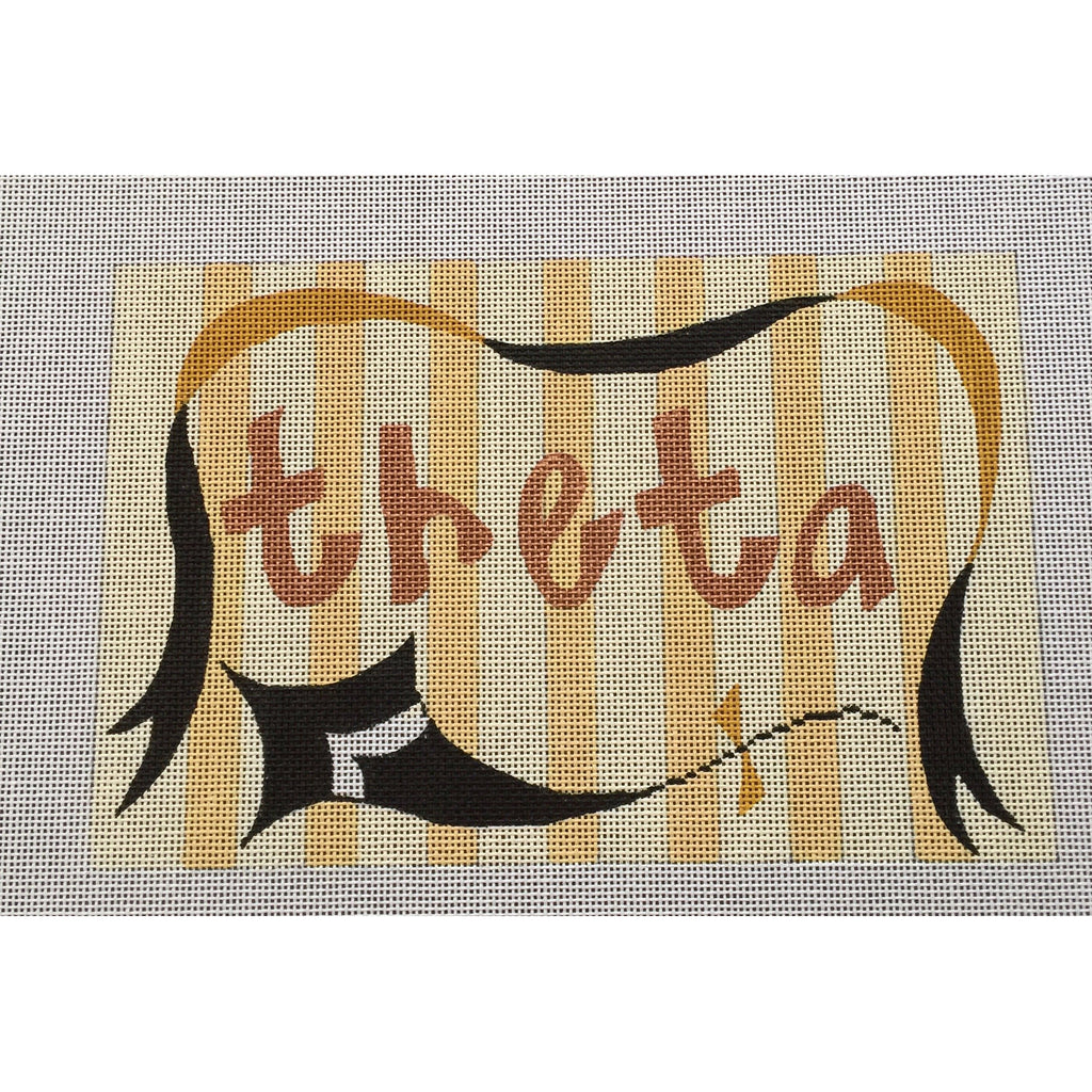 Kappa Alpha Theta Nickname Canvas - needlepoint