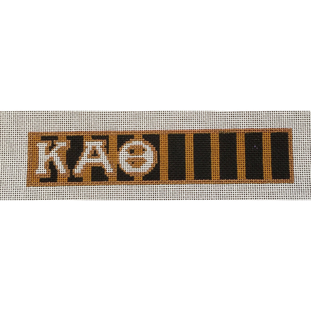 Kappa Alpha Theta Key Fob Canvas-Needlepoint Canvas-Painted Pony-KC Needlepoint