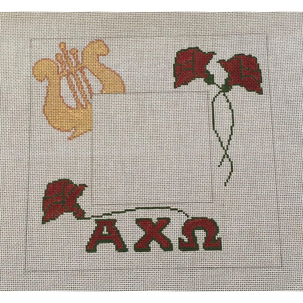 Alpha Chi Omega Frame Canvas-Needlepoint Canvas-Painted Pony-KC Needlepoint
