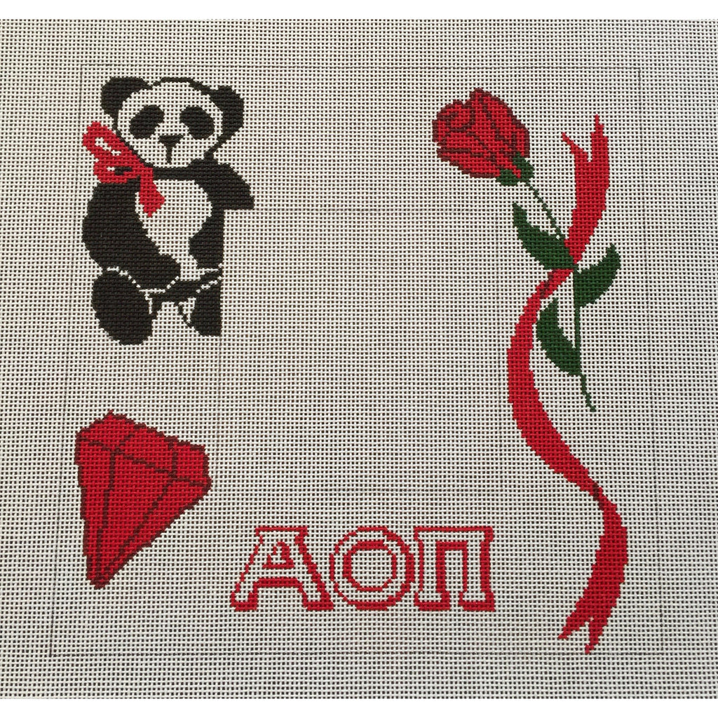 Alpha Omicron Pi Frame Canvas