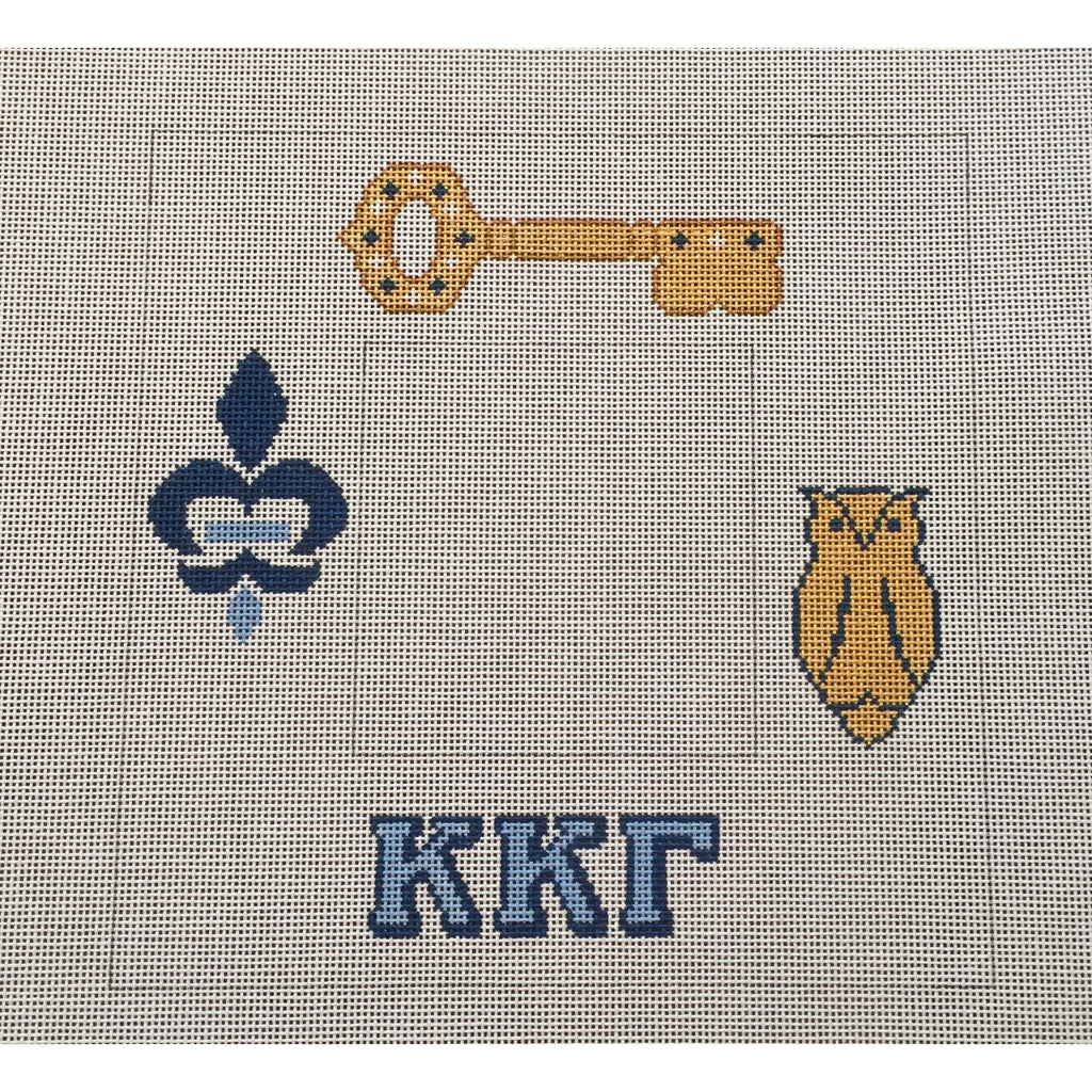 Kappa Kappa Gamma Frame Canvas-Painted Pony-KC Needlepoint