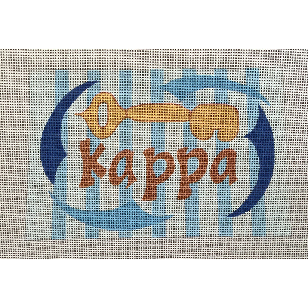 Kappa Kappa Gamma Nickname Canvas-Painted Pony-KC Needlepoint