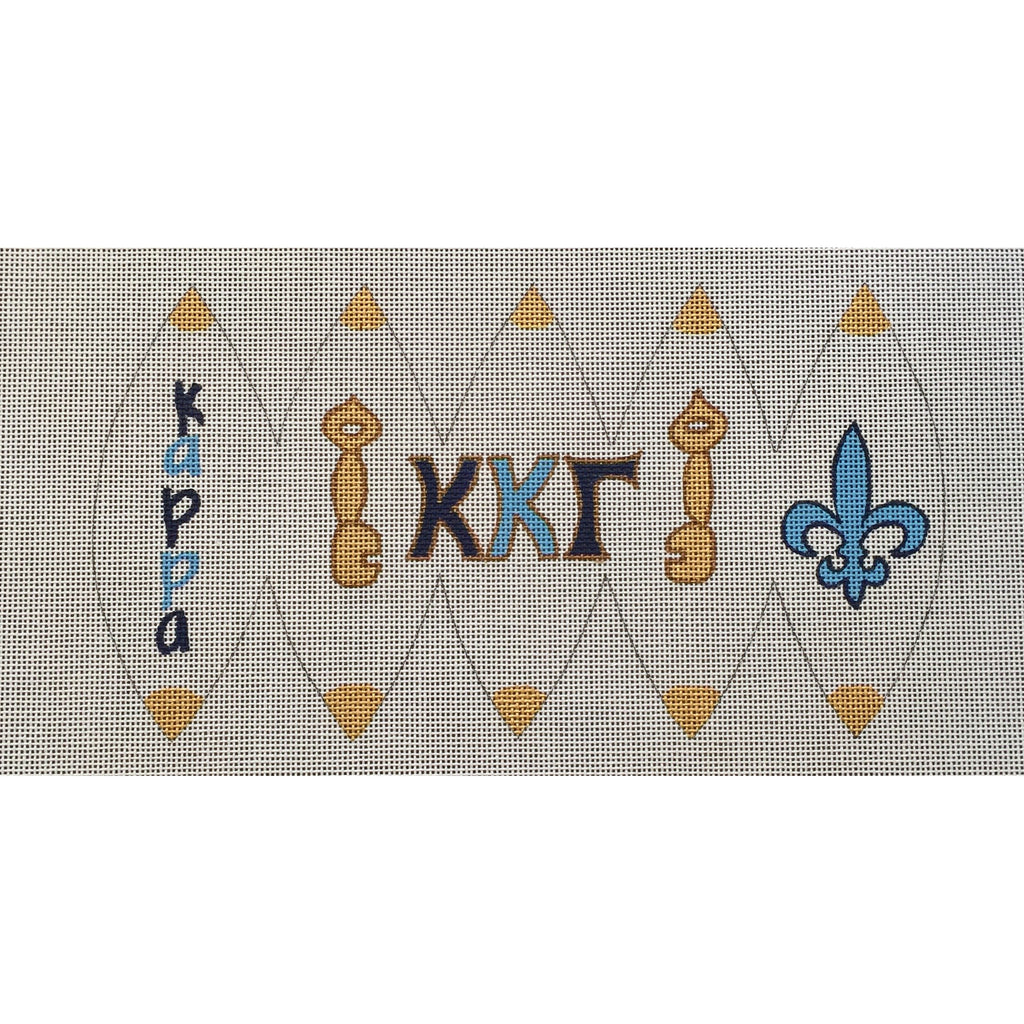 Kappa Kappa Gamma 3D Ball Canvas-Painted Pony-KC Needlepoint