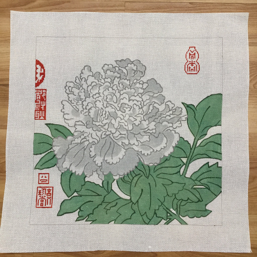 Peony Canvas-Needlepoint Canvas-Studio Midwest-KC Needlepoint