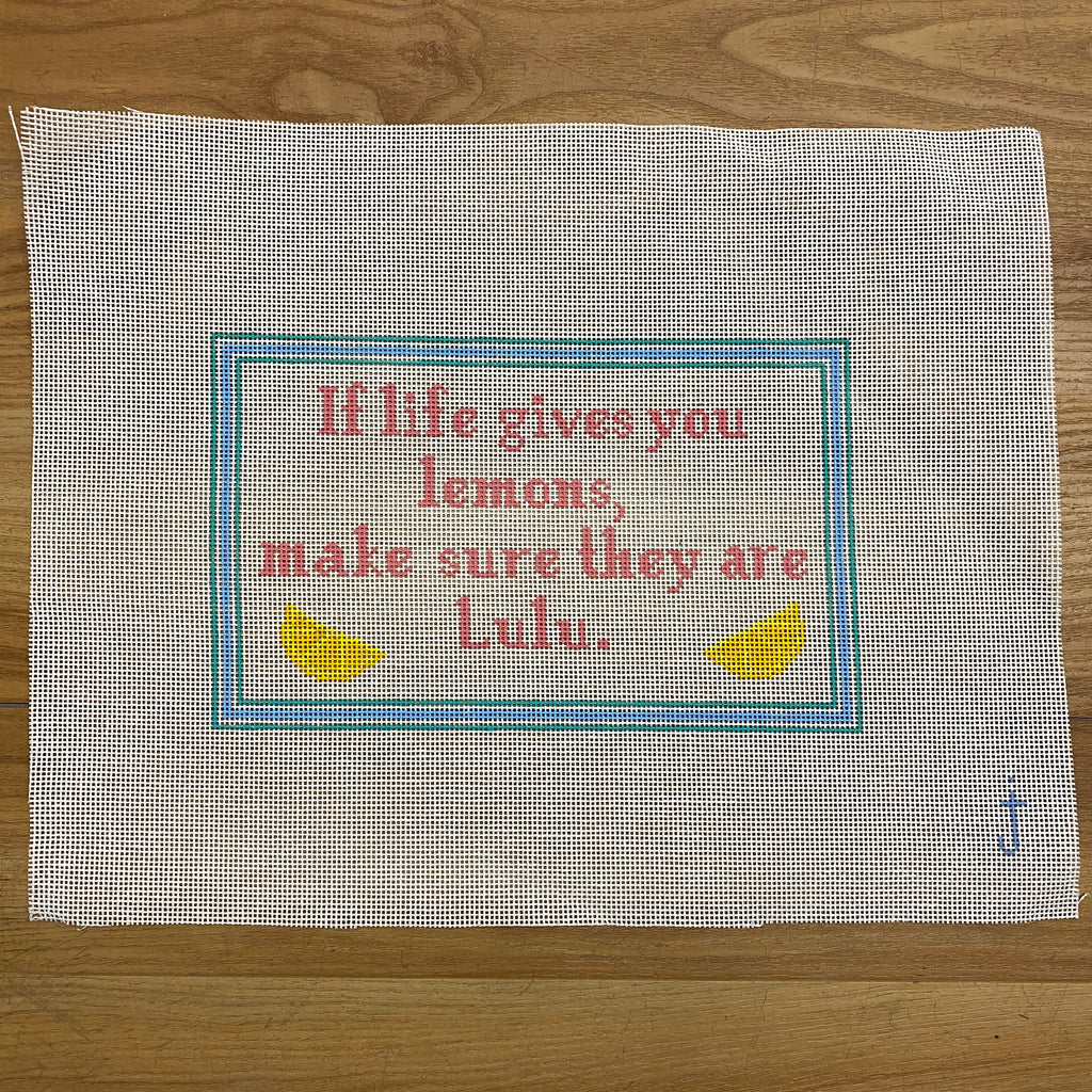 If Life Gives You Lemons... Canvas-Needlepoint Canvas-KC Needlepoint