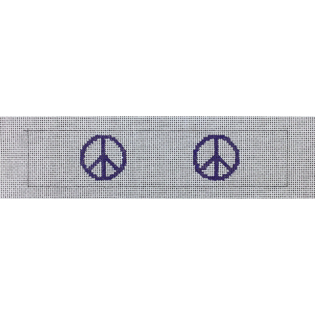 Peace Sign Key Fob Canvas-Needlepoint Canvas-Local Artist-KC Needlepoint