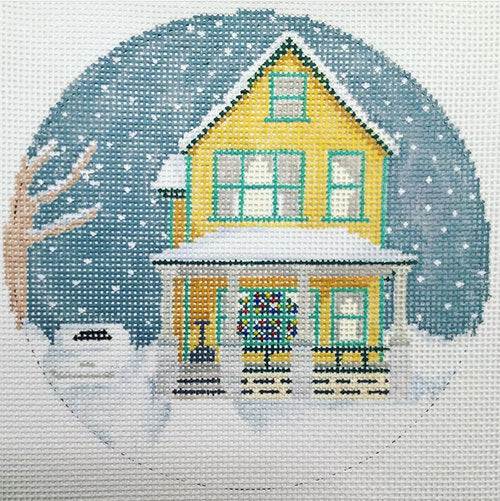 A Christmas Story House Canvas - needlepoint