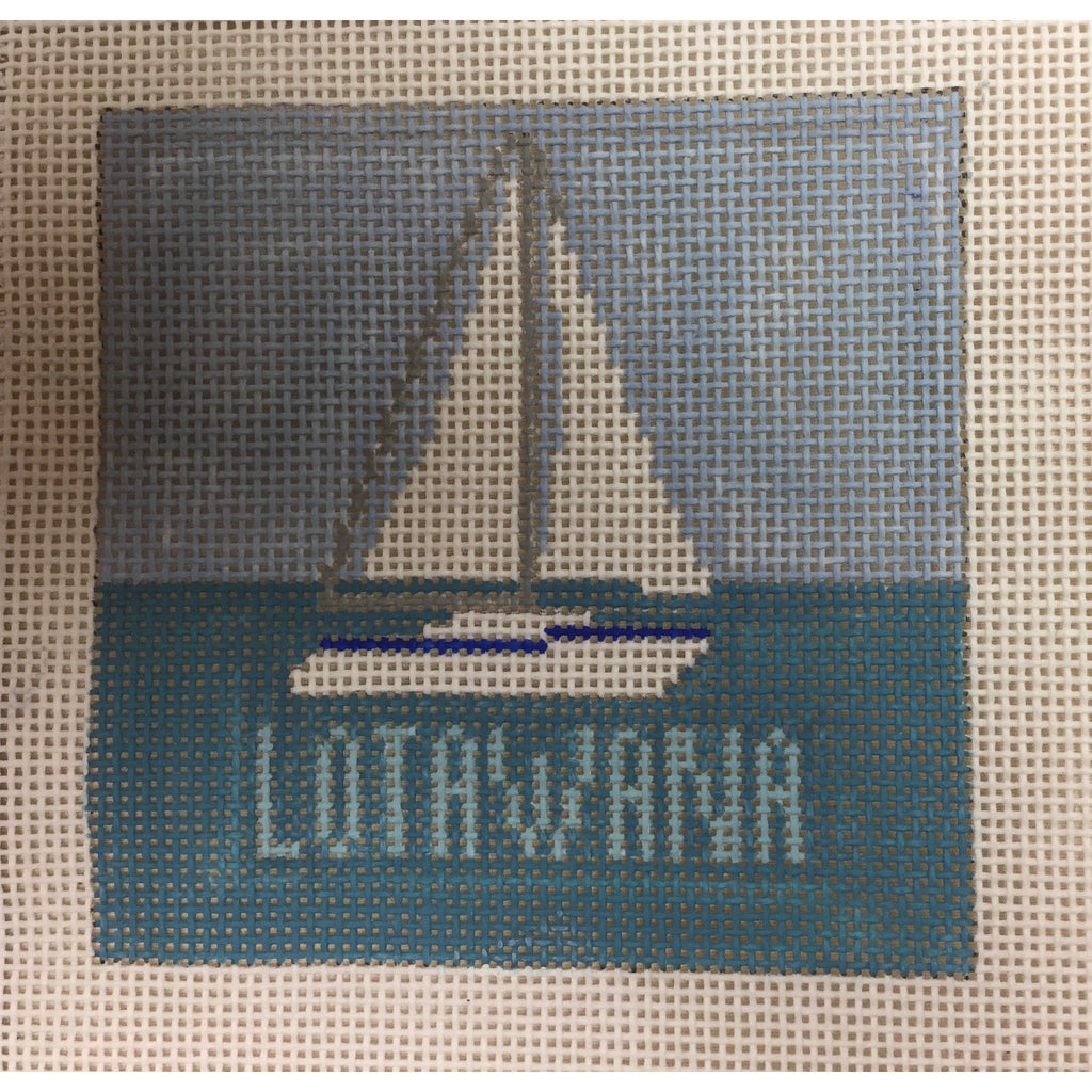 Lotawana Sailboat Canvas-Needlepoint Canvas-KCN Designers-KC Needlepoint
