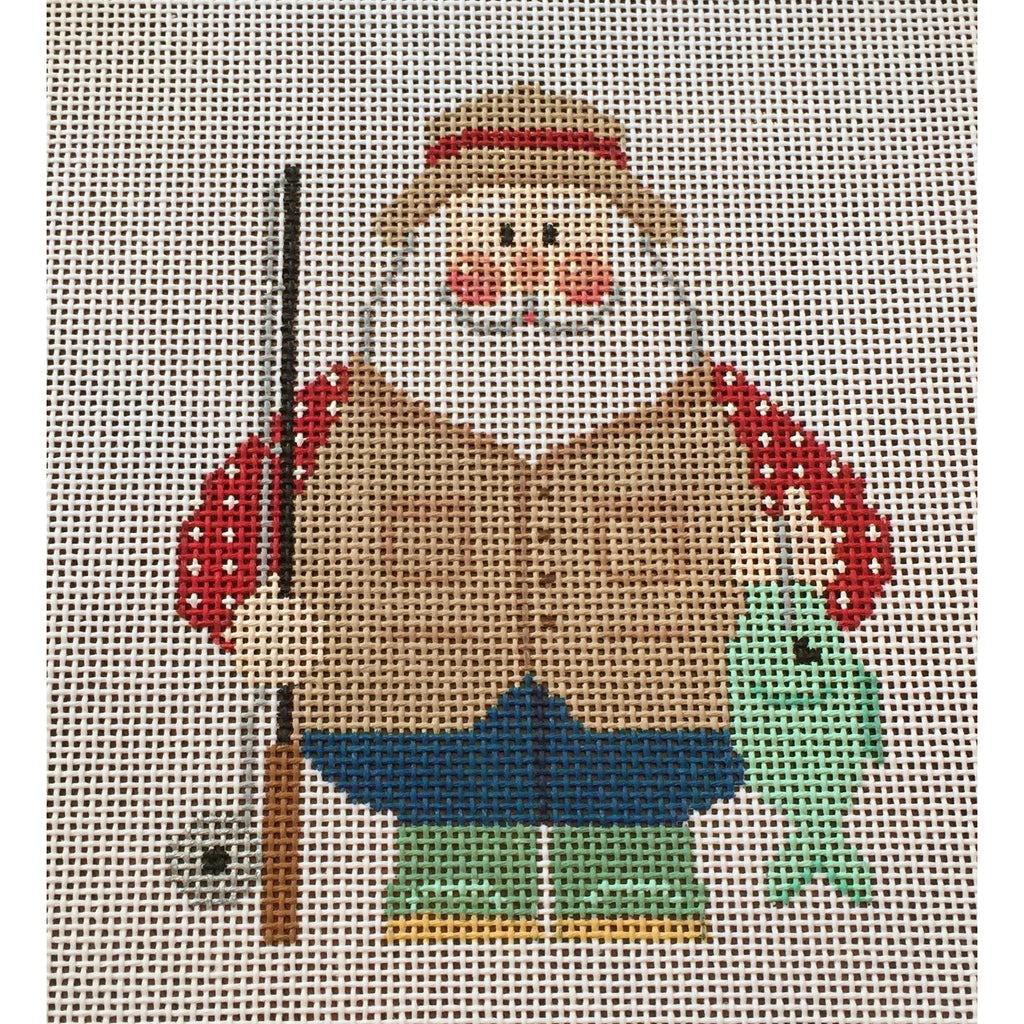 Fishing Santa Canvas - KC Needlepoint