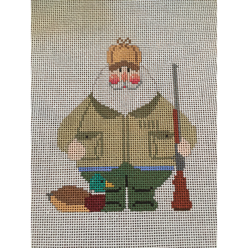 Duck Hunting Santa Canvas-Needlepoint Canvas-Carol Dupree-KC Needlepoint