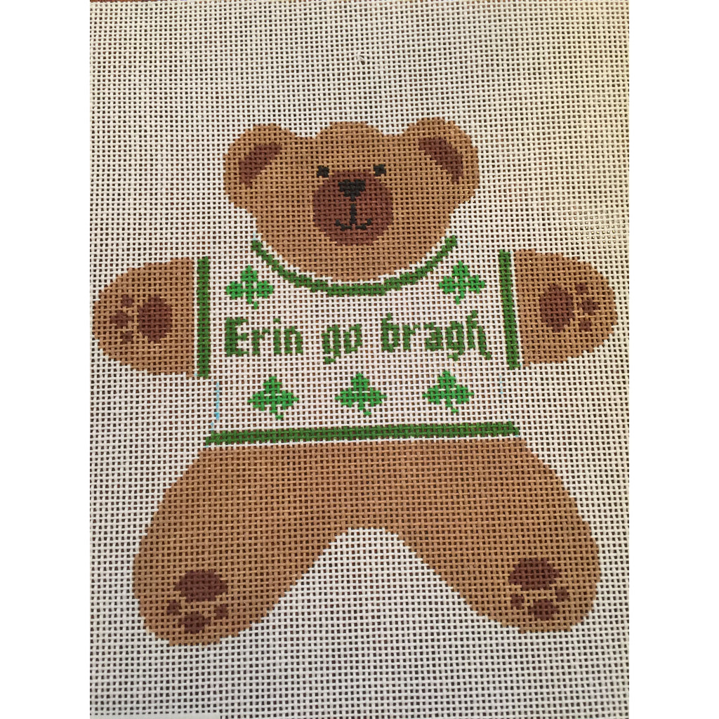 Erin Go Bragh Bear Canvas-Needlepoint Canvas-Canvas Connection-KC Needlepoint
