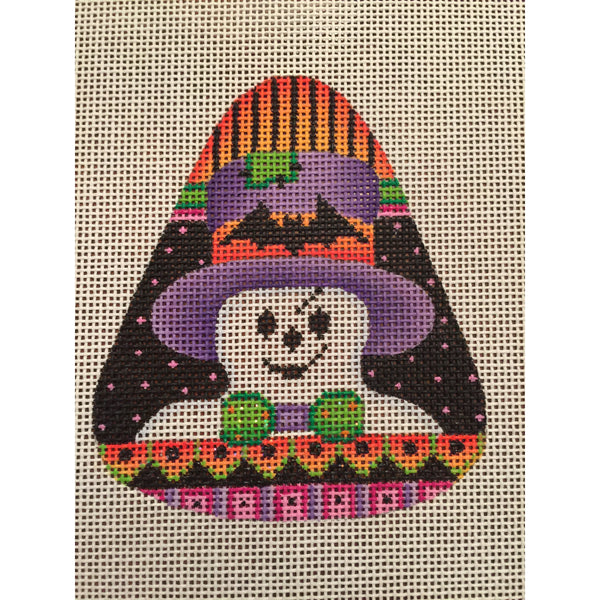 Ghost Candy Corn Needlepoint Canvas
