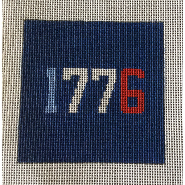 "1776 4 1/2"" Square Canvas - needlepoint"