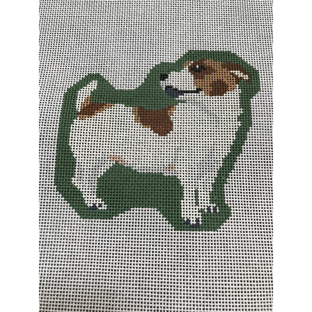 Jack Russell Canvas-Needlepoint Canvas-Pip and Roo Needleworks-KC Needlepoint