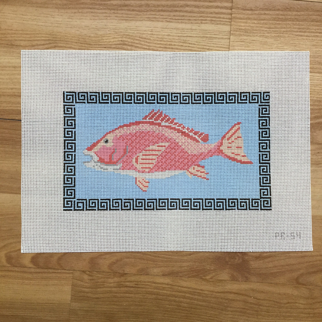 Red Snapper Canvas-Needlepoint Canvas-Pip and Roo Needleworks-KC Needlepoint