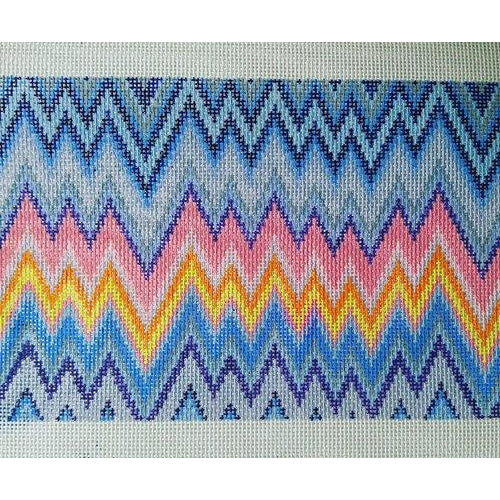 ZigZag Clutch Canvas-Needlepoint Canvas-Anne Fisher-KC Needlepoint