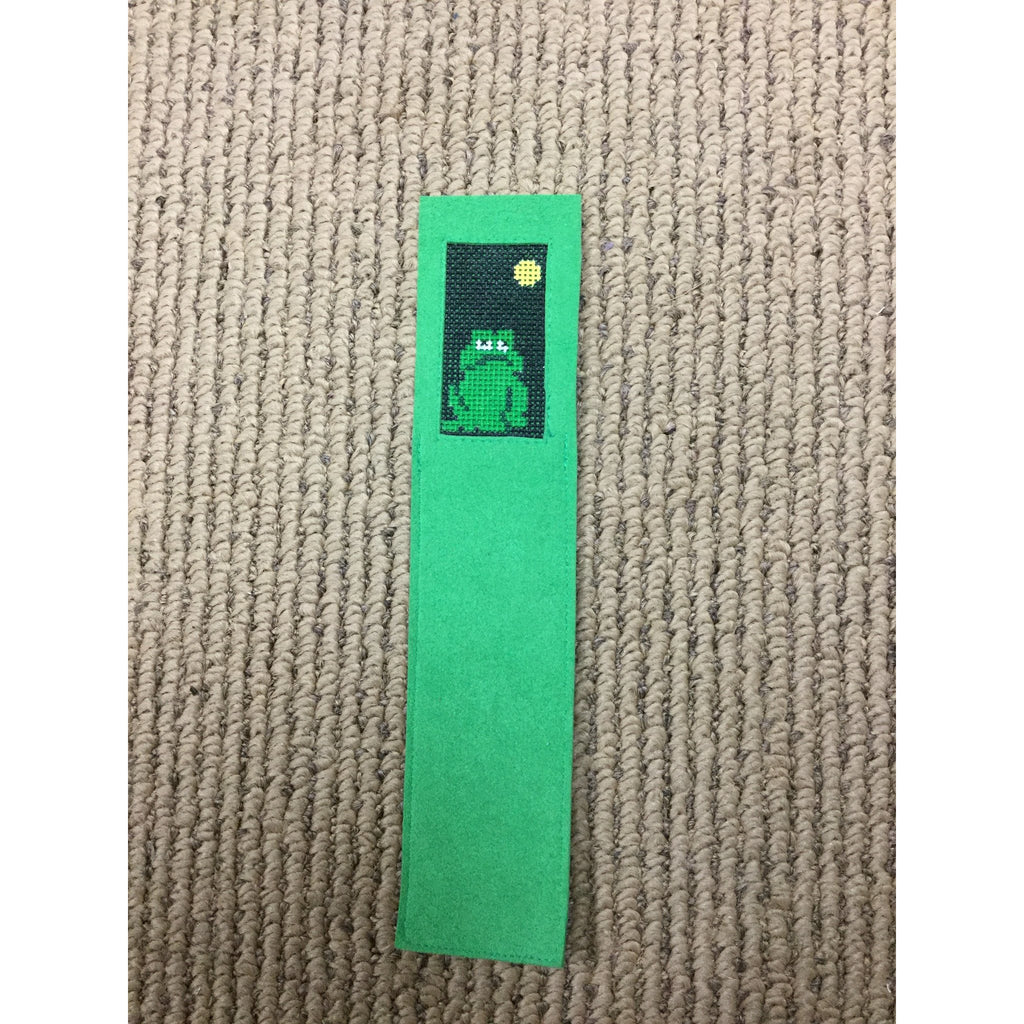 Frog Bookmark - needlepoint