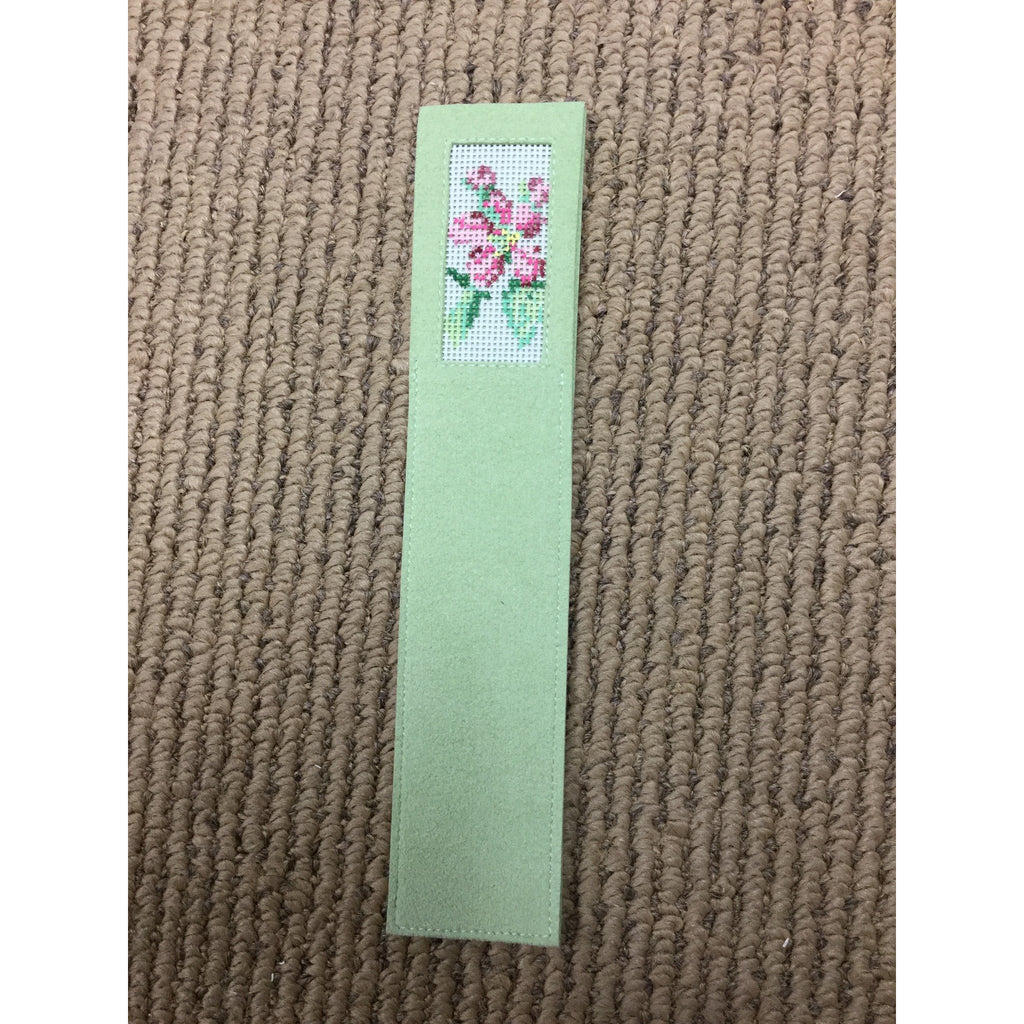 Lily Bookmark - needlepoint
