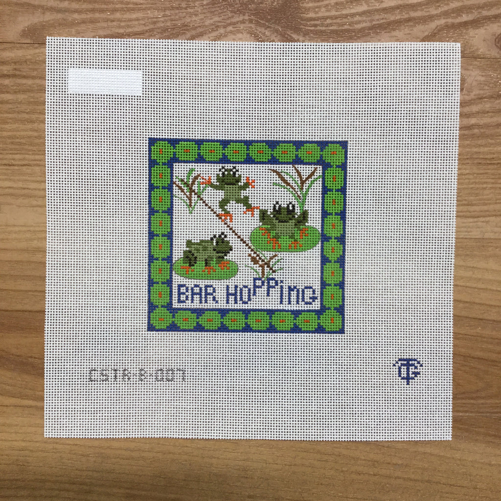 Bar Hopping Needlepoint Canvas - KC Needlepoint