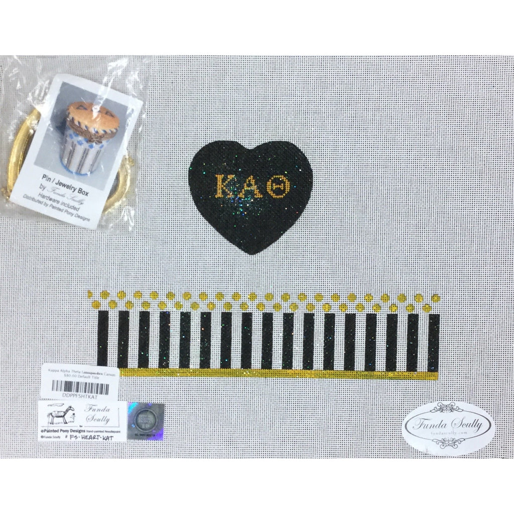 Kappa Alpha Theta Limoges Box Canvas - needlepoint