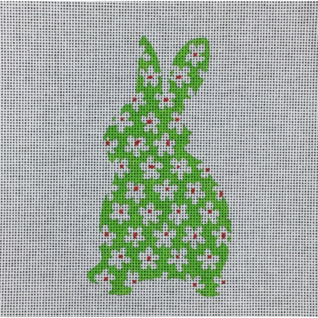 Bunny with Flowers Ornament Canvas-Needlepoint Canvas-The Collection-KC Needlepoint