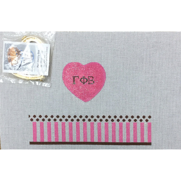 Gamma Phi Beta Limoges Box Canvas - needlepoint