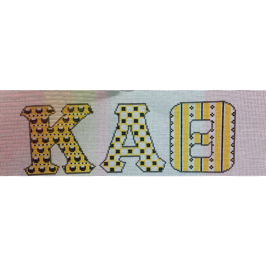 Kappa Alpha Theta Letter Canvas - needlepoint