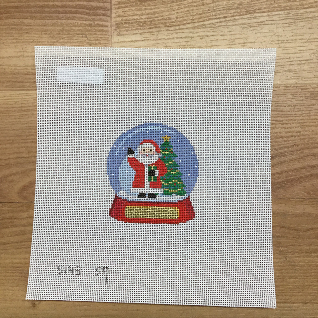 Snow Globe Santa Canvas-Needlepoint Canvas-Susan Roberts-KC Needlepoint