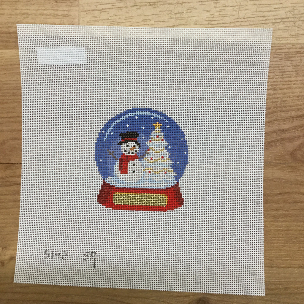 Snow Globe Snowman Canvas-Needlepoint Canvas-Susan Roberts-KC Needlepoint
