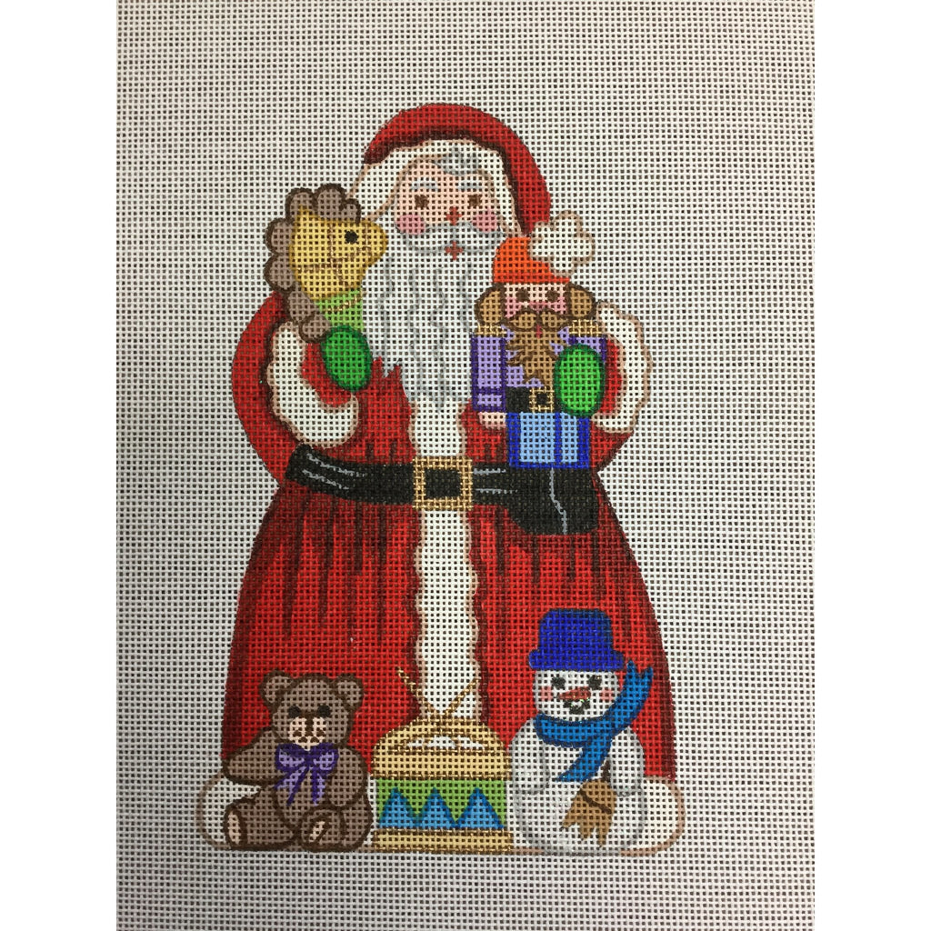 Santa with Many Toys Canvas - needlepoint