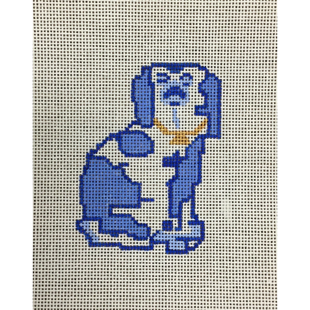 Staffordshire Dog Ornament Canvas - needlepoint