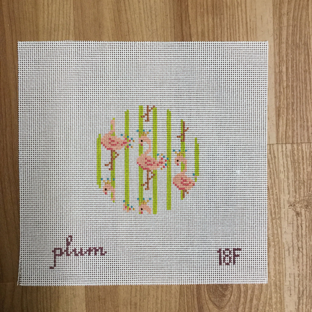 Flamingo Round Canvas